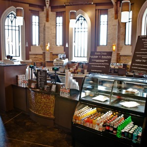 Elevate Cafe counters, displays and dining environment