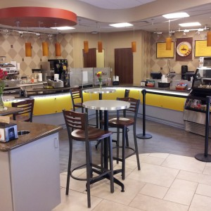 Sagemont Cafe modern counters, displays and dining environment