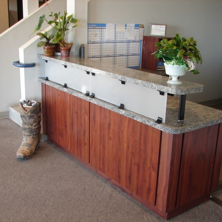 professional office reception counter
